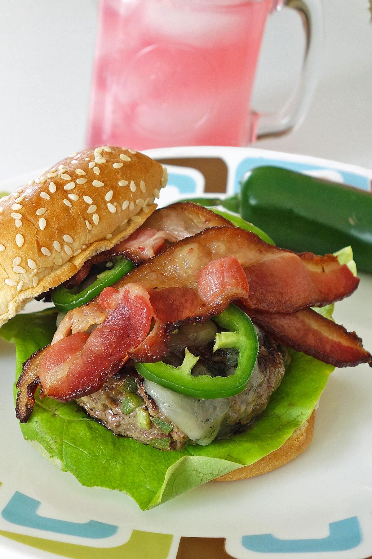 Jalapeno and Blue Cheese Burger | burgerartist.com
