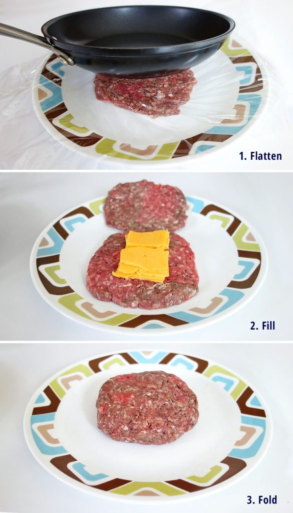 Steps to learn how to make a juicy lucy the delicious cheese stuffed burger   burgerartist.com
