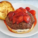 strawberry french toast burger