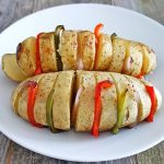 grilled potato and peppers