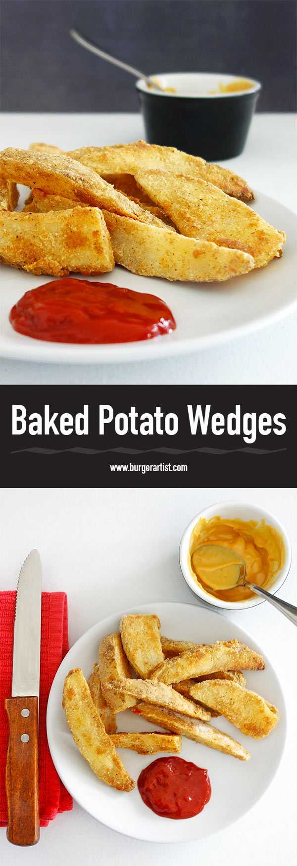 Oven Baked Potato Wedges are awesome if you want fresh homemade fries without the mess of frying. Hot, fluffy, and delicious with any meal.